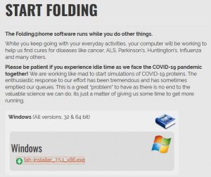 Folding@home install to Windows